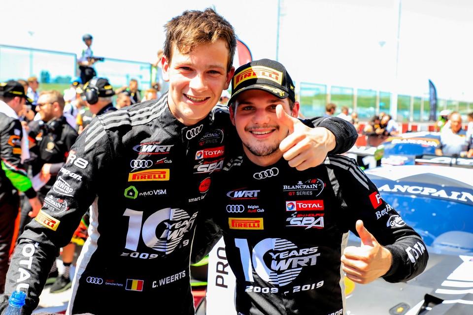 Charles Weerts (links) met Dries Vanthoor.