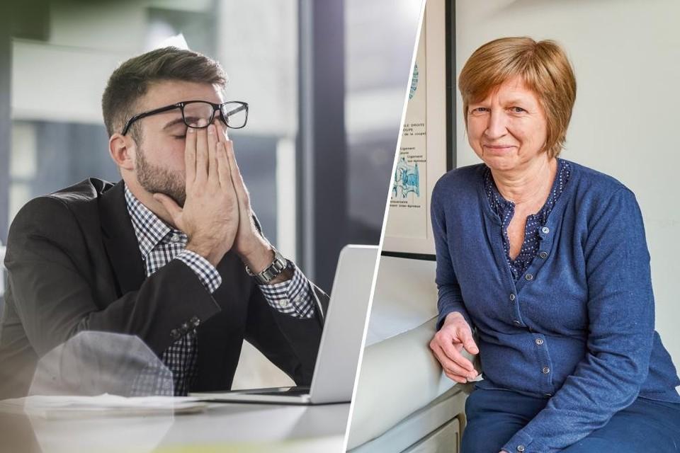 """Huisarts Lieve Seuntjens uit Antwerpen (rechts): """"Vooral jonge mensen hebben moeite om alle taken in hun agenda te proppen."""" Links: themabeeld."""