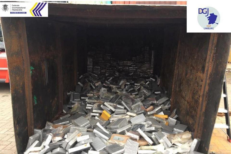 In oktober werd een recordvangst van 11,5 ton cocaïne onderschept uit een container die uit Guyana afkomstig was.