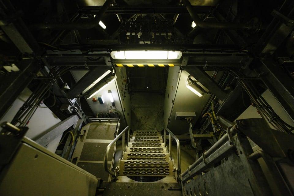 De 'nacelle', ofwel de 'torenkamer', heeft allures van een ruimteschip.