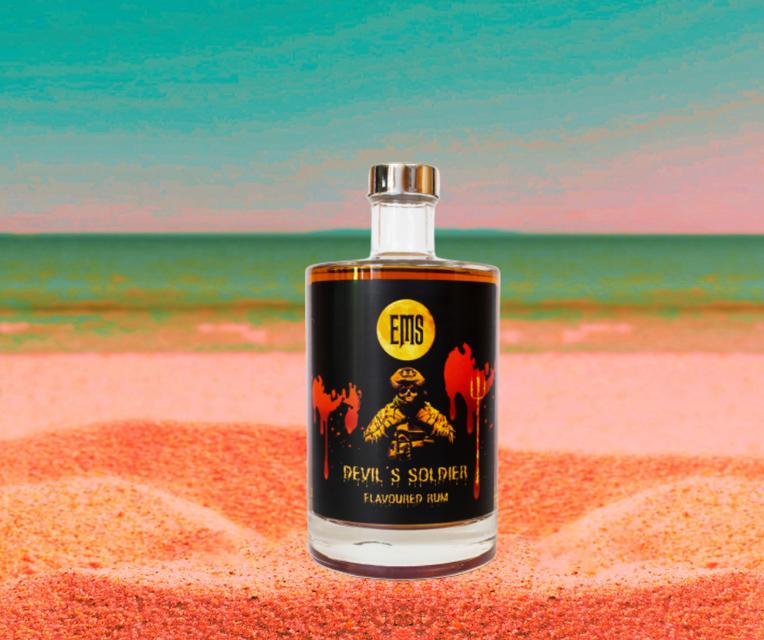De EMS-flavoured rum.