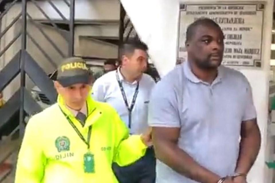 Antwerpenaar Jeff Masudi bij zijn arrestatie in Colombia.