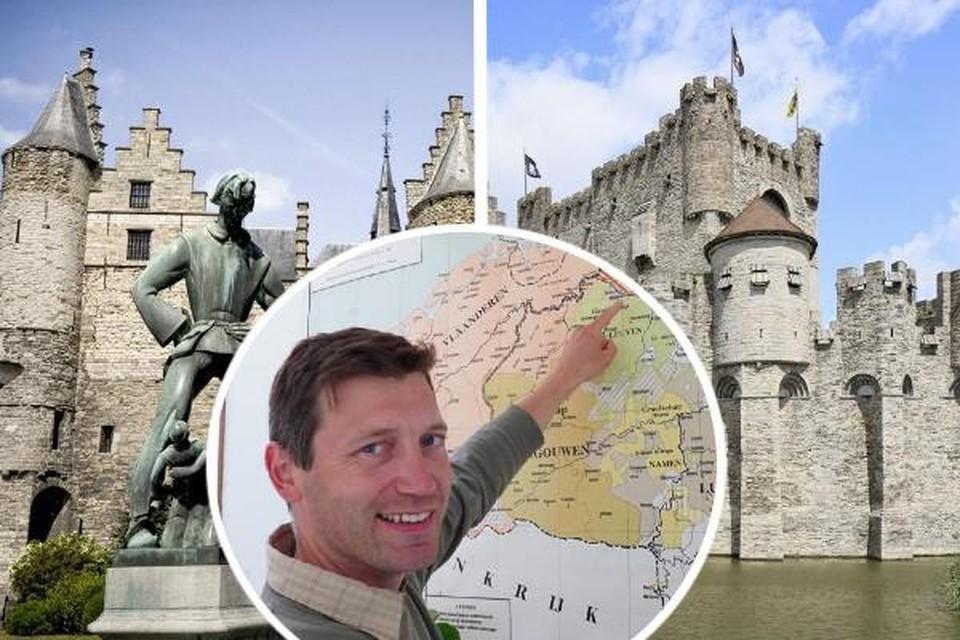 """""""Als je wil tonen hoe een middeleeuwse burcht eruitziet, moet die er ook middeleeuws uitzien"""", zegt professor Jelle Haemers (KU Leuven)"""