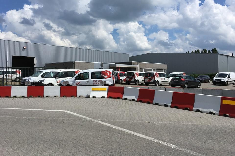 Het postverdeelcentrum in Heist-op-den-Berg.