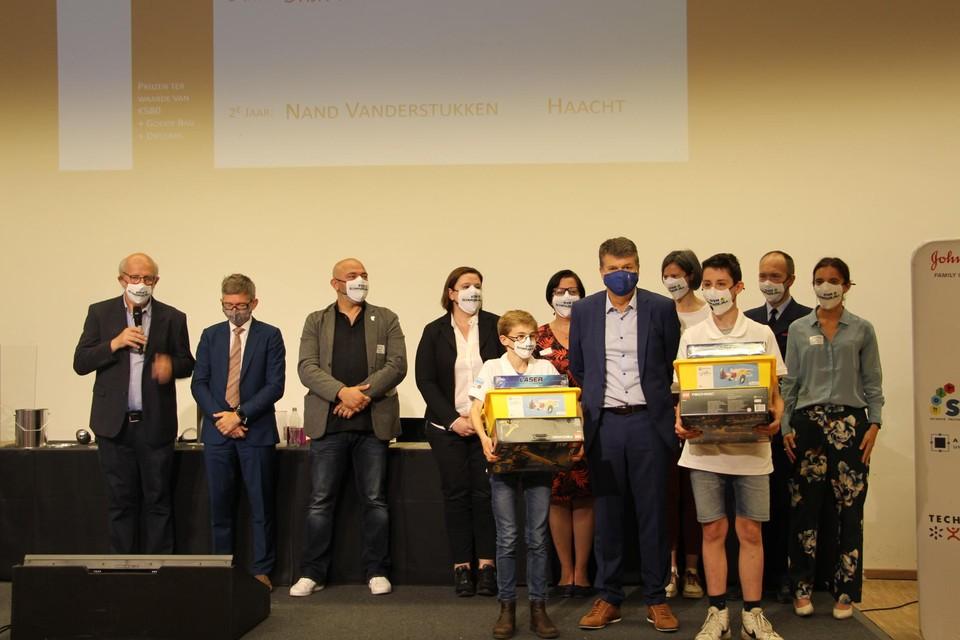 Winnaars Vlaamse STEM Olympiade.