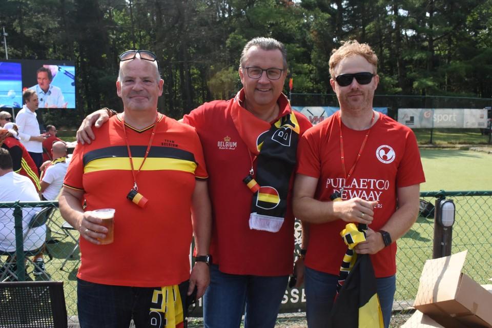 Bestuursleden Jan Geubbelmans, Bernard Ghaye en Jan Rossel van Inter Mol.