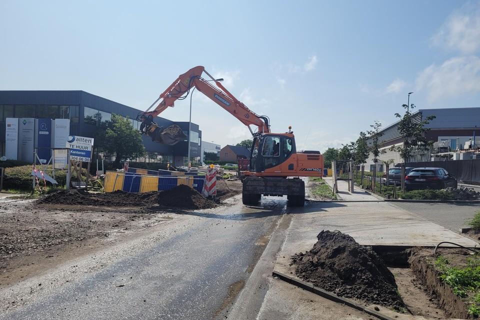 Werken Kontichsesteenweg zorgt voor verkeersovertredingen.jw