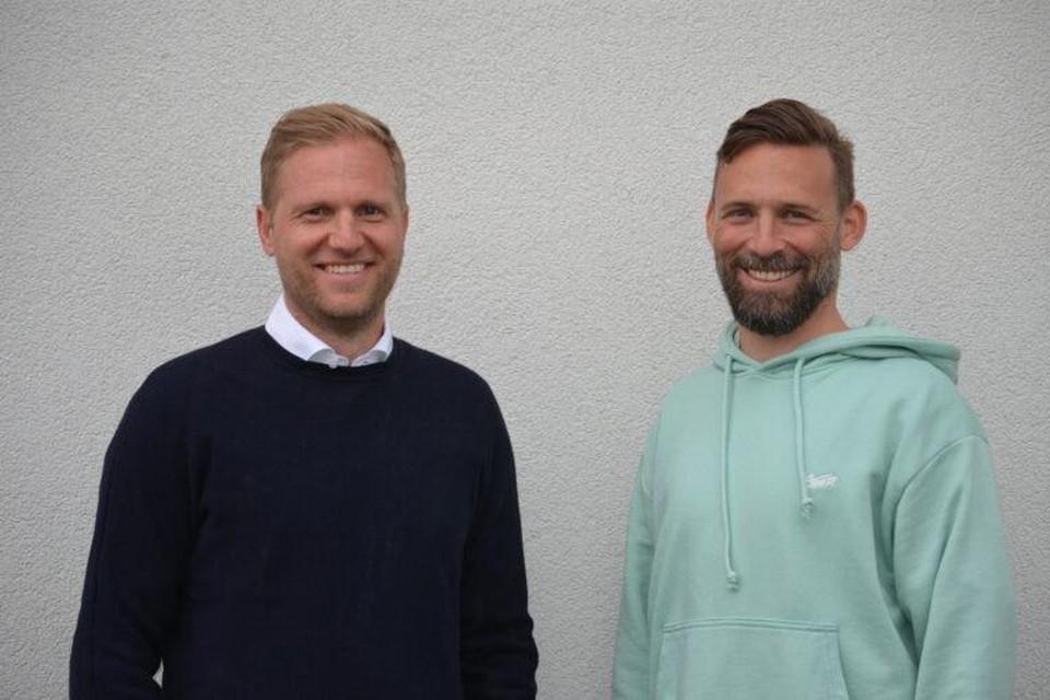 Hoofdtrainer Marc Schneider en assistant Pascal Cerrone.