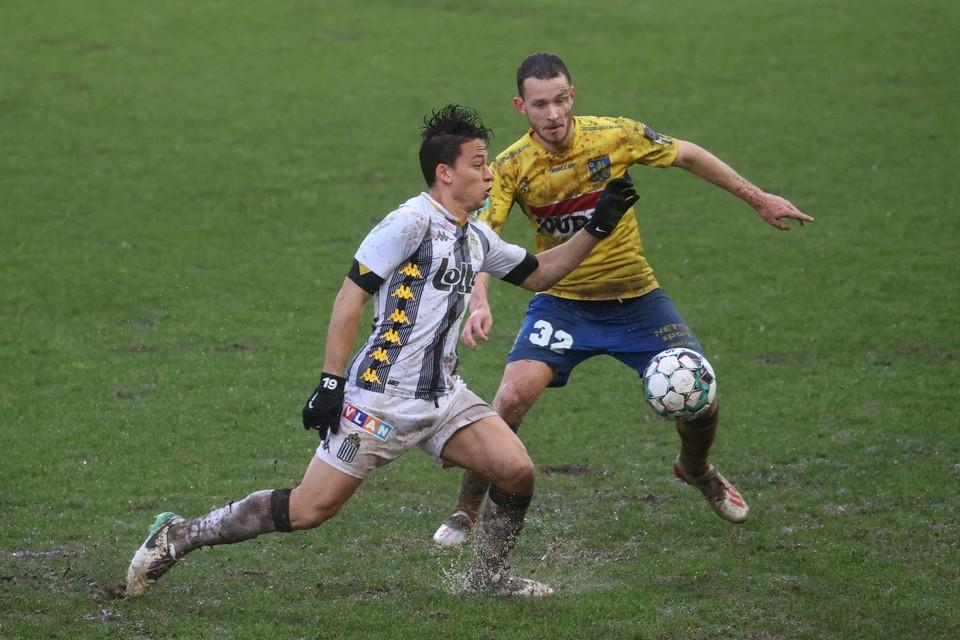 Janssens vorige maand in de bekerwedstrijd tegen Charleroi.