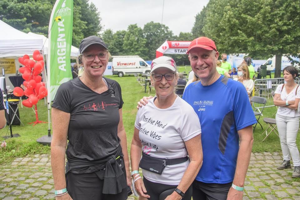 Kathleen, Inge en Hans kwamen als eerste over de finish