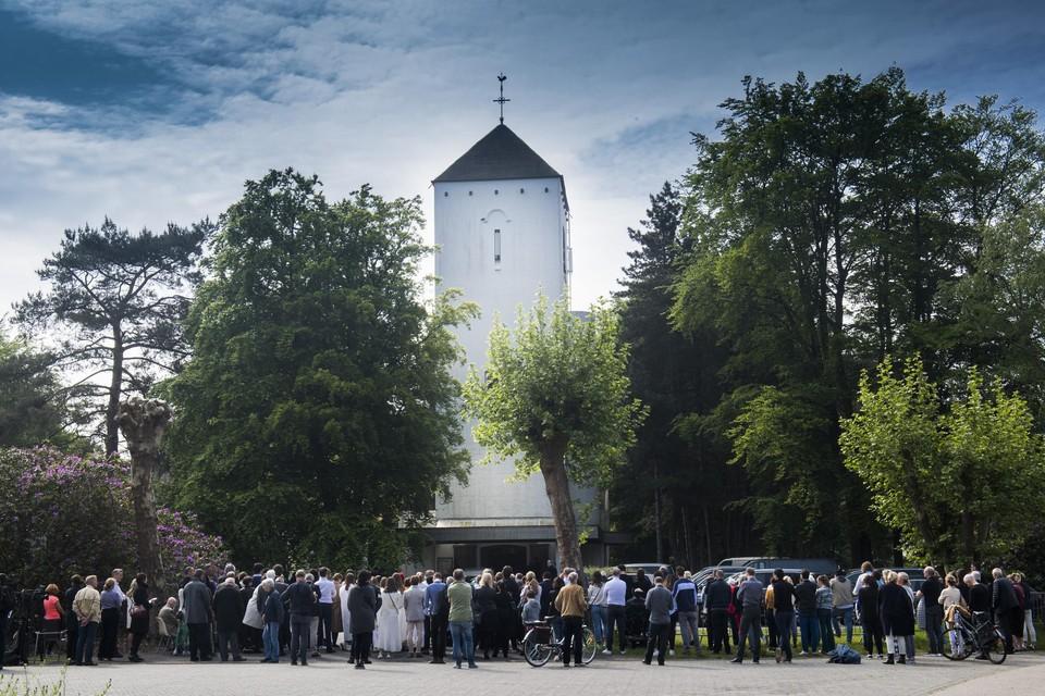 De Witte Kerk bij de uitvaartplechtigheid van Julie Van Espen, ruim twee jaar geleden.
