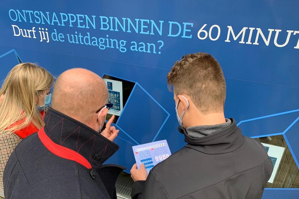 De wandeling begint en eindigt bij Escape 2300 in de Begijnenstraat.