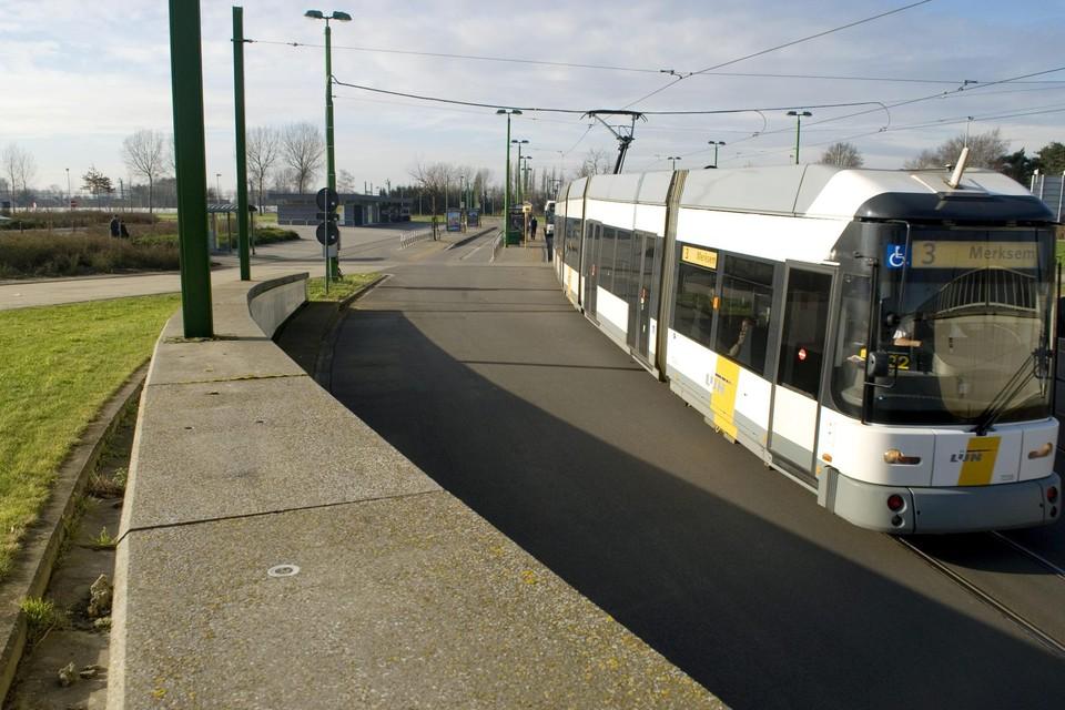 Tram 3 zal vier weken niet rijden tussen halte P+R Linkeroever en Melsele.