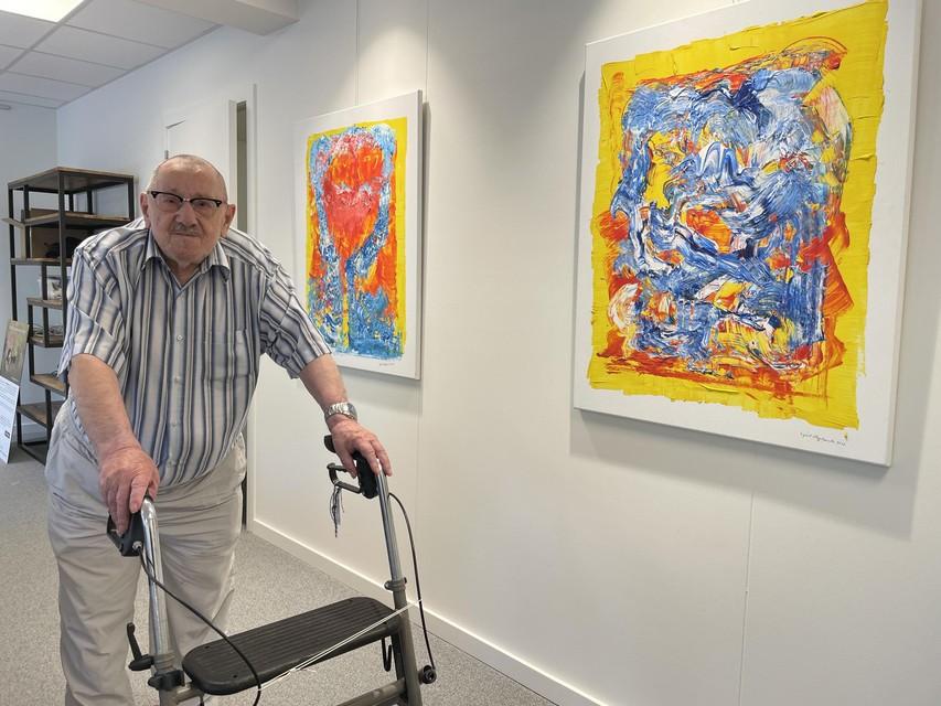 """Egied schilderde ooit klassiek werk. """"Maar als kunstenaar blijf je continu op zoek"""", zegt hij."""