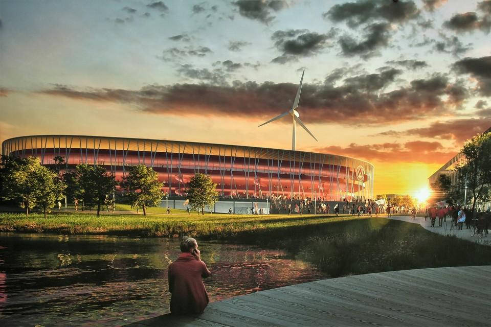 Een beeld van het masterplan van het nieuwe stadion dat in 2018 werd vrijgegeven.