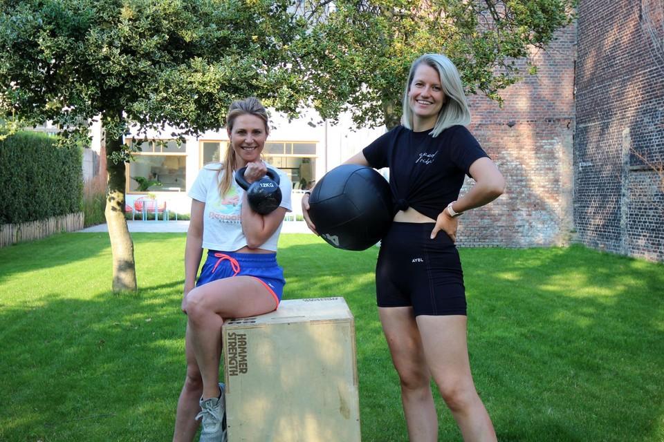 Lisbeth en Kristien trainen dames bij Studio Spark.