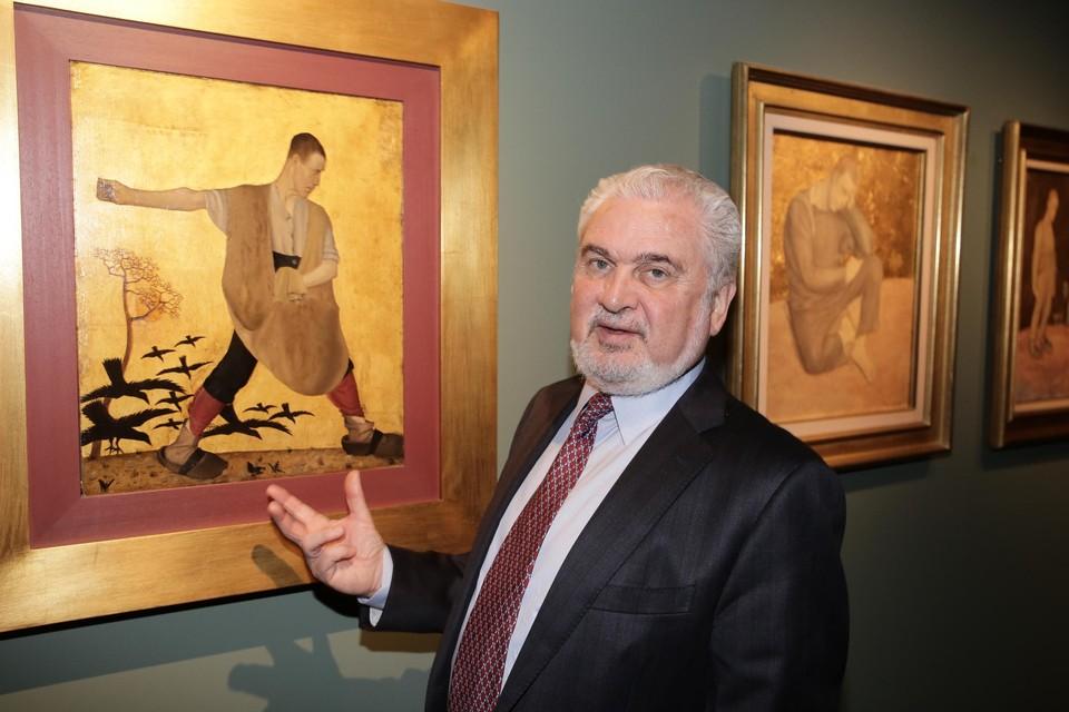 Archiefbeeld. Fernand Huts stelt een tentoonstelling voor in het Caermersklooster in Gent.