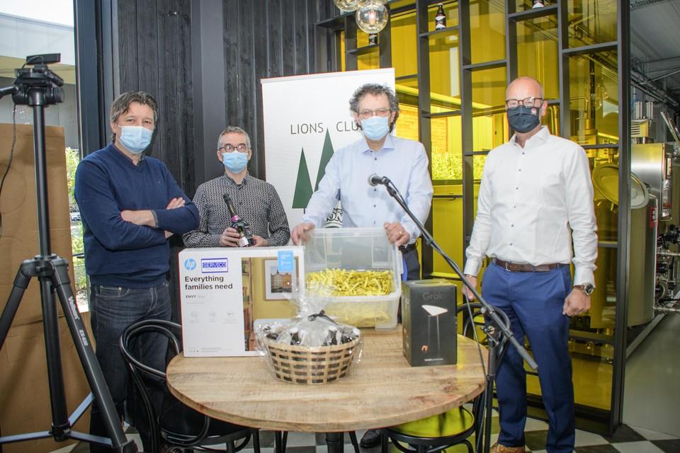 Vlnr Frank Dewit, Dirk De Weer, Thierry Dings en Thibaut Kerrels.