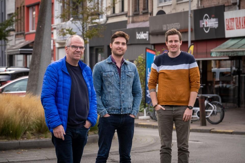 Alain Hoeckx en Jan Van Hove van WebKrunch en Benny van Loon van Traiteur Tip Top zijn een winkeliersvereniging begonnen voor de Gallifortlei.