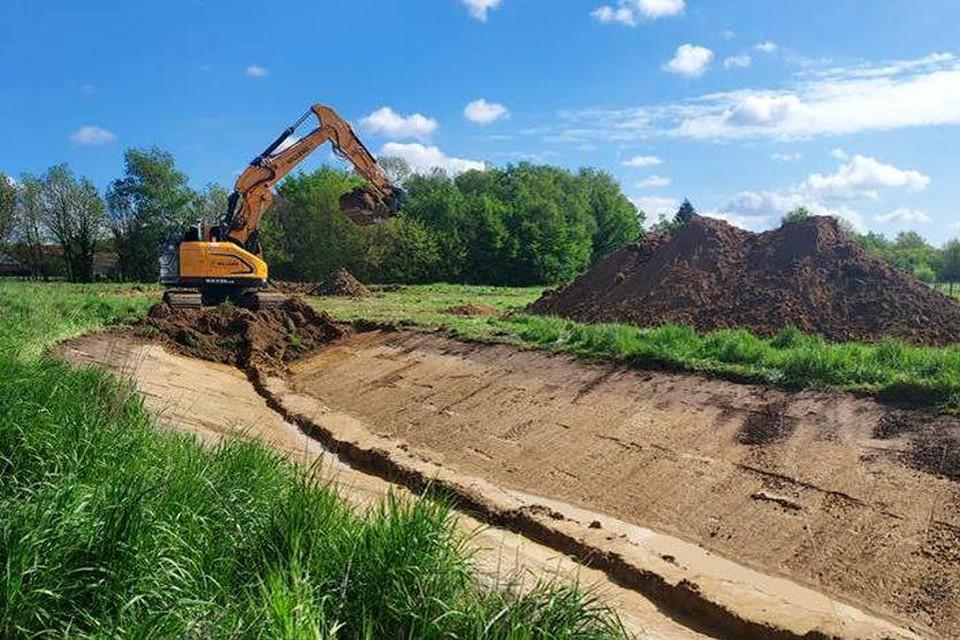 De Diepenbeek zal kronkelend worden aangelegd.