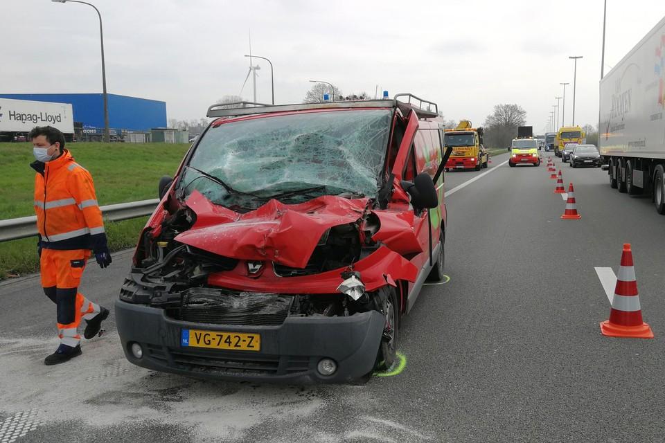 Een van de negen verkeersongevallen in de file voor de werfzone in Oevel gebeurde afgelopen maandag nog, gelukkig zonder gewonden.