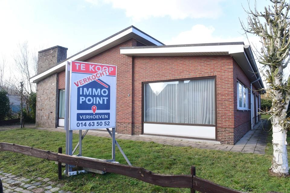 Deze woning in de Heidestraat in Merksplas is net verkocht. In de gemeente kostte een woning vorig jaar gemiddeld 18,5% meer dan in 2019.