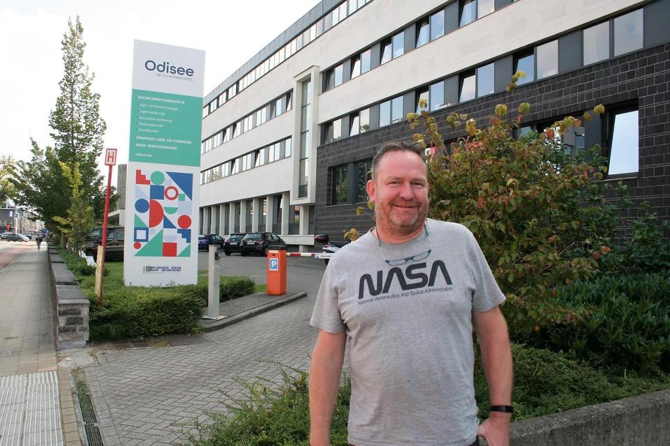 Roel Van Hofstraeten trok maandag naar zijn eerste schooldag op hogeschool Odisee.