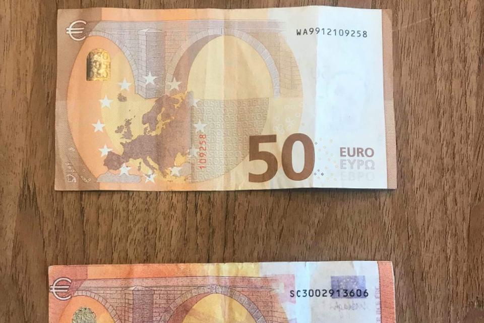 De tiener gaf een vals briefje van 50 euro uit.