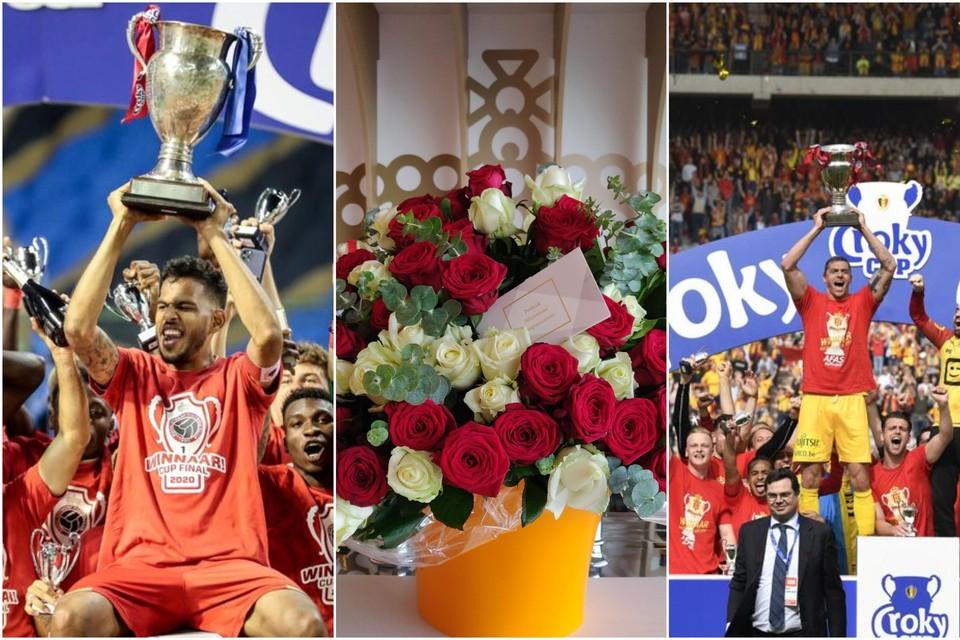 Royal Antwerp FC (bekerwinnaar van 2020) wordt in de bloemetjes gezet door KV Mechelen (bekerwinnaar van 2019).