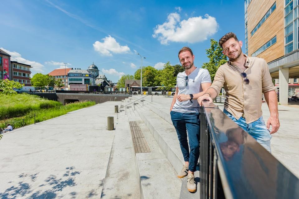 Kristof Schippers en Dieter Eerens van Terrazza aan het Dijleterras.