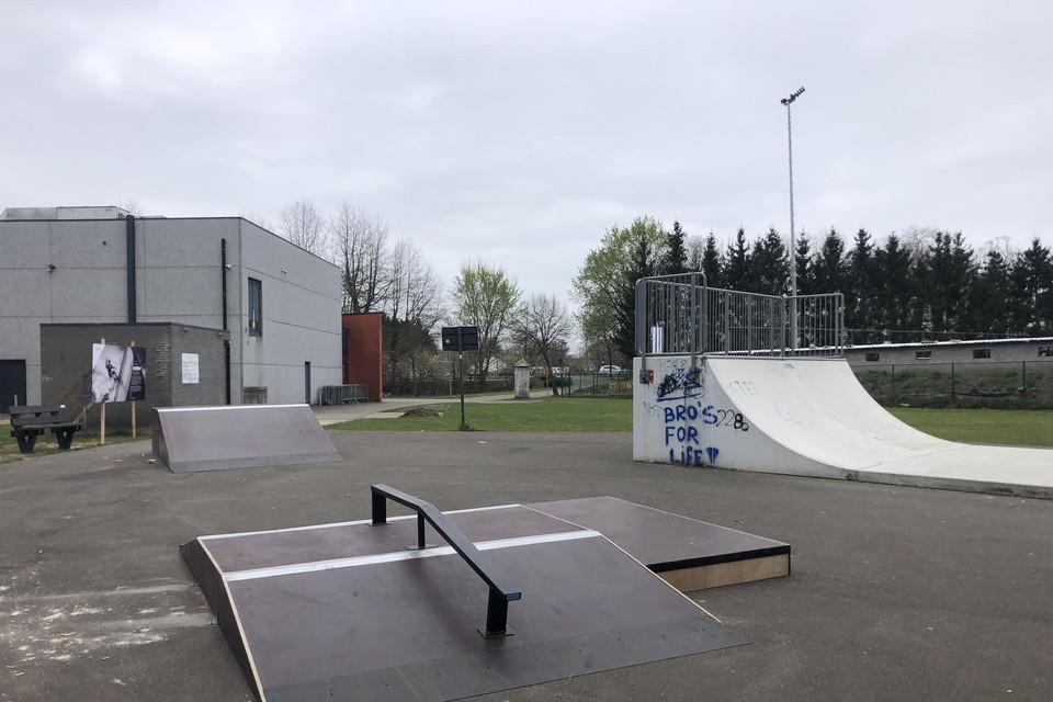 Het skatepark in Grobbendonk is tijdelijk uitgebreid met extra toestellen