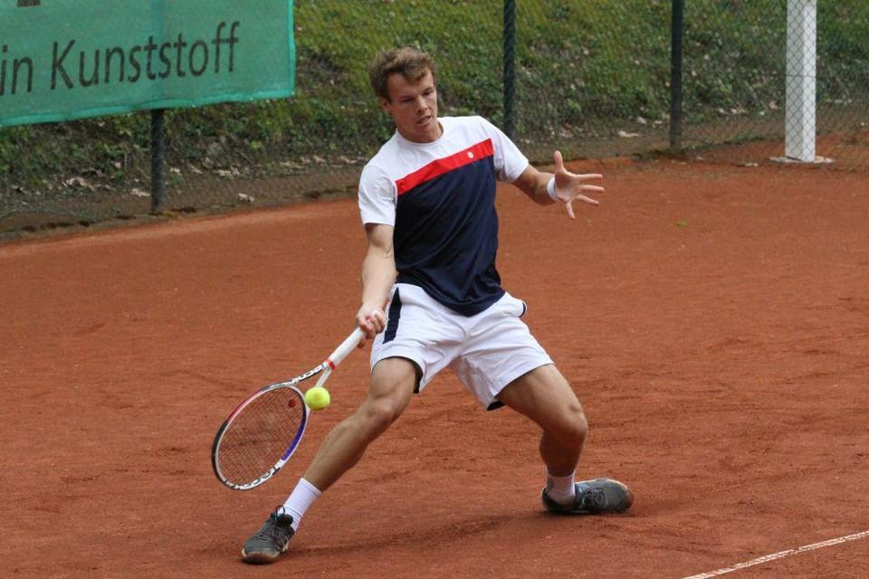 """Michael Geerts. """"Ik wil echt naar de top 250 op de ATP-ranking. Als dat lukt, mag ik deelnemen aan de kwalificaties van de grand slams."""""""