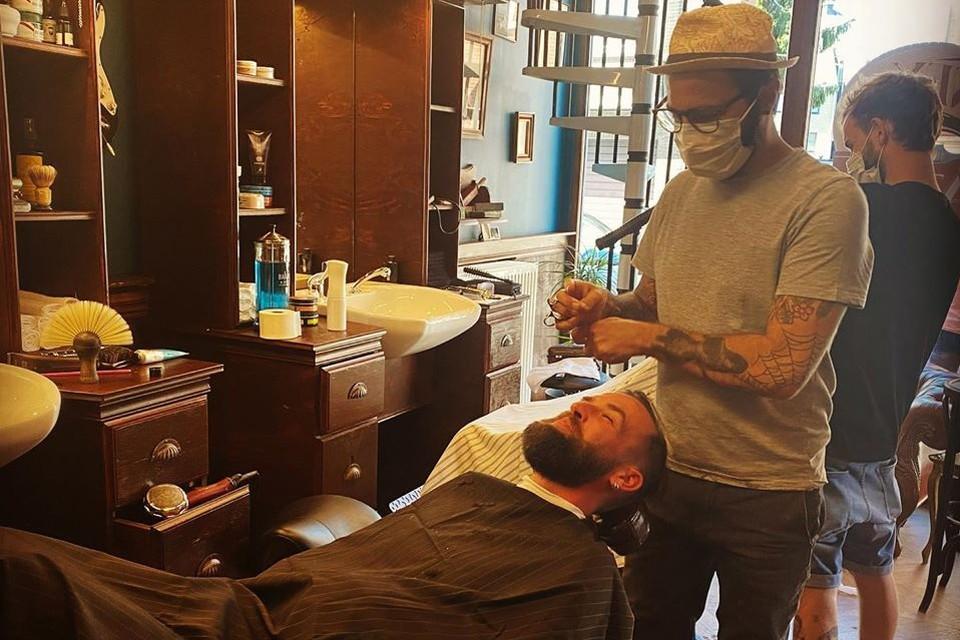 Bjorn Winckelmans aan de slag als barbier.