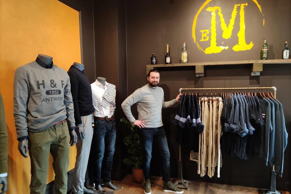 Matthias Gerinckx opent in het Boomse centrum zijn kledingwinkel: enkel voor mannen of voor 'eM'.