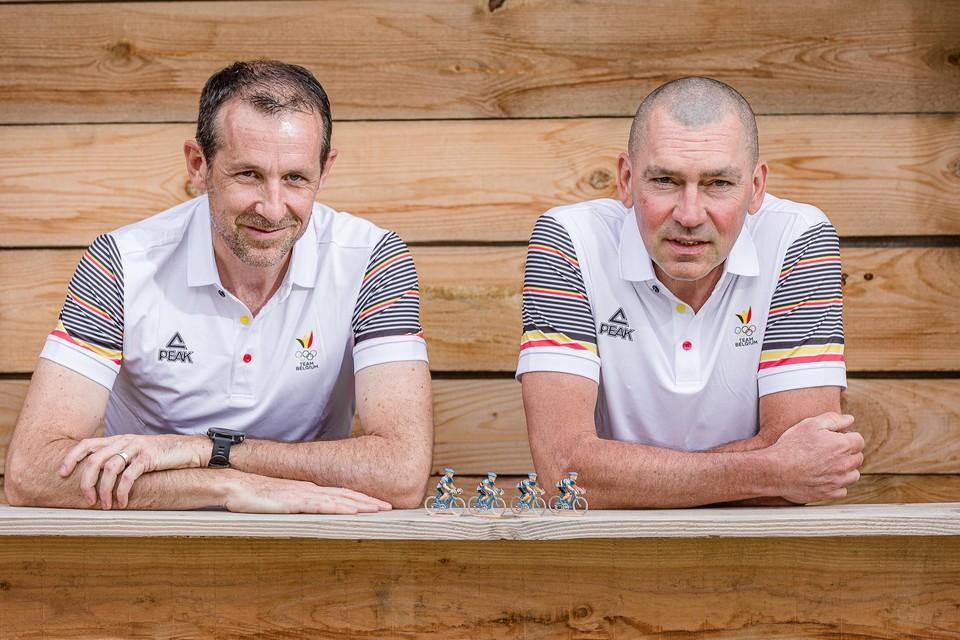 Tom Teulingkx (links) en Kris Van der Mieren zijn de bondsartsen van Belgian Cycling op de Olympische Spelen.