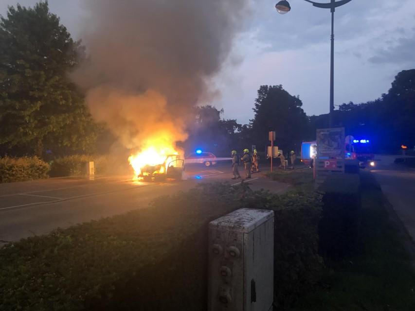 De brandweer kon de vlammen snel doven.