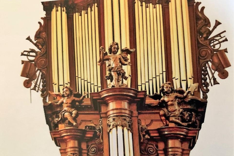 Detail van Forceville-orgel