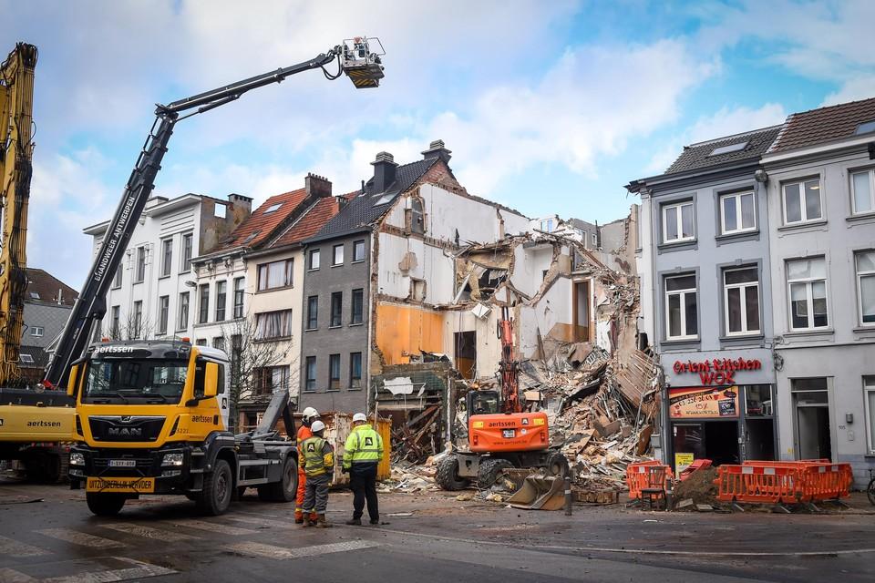 Bij de ontploffing op de Paardenmarkt, op 15 januari 2018, werden drie huizen volledig verwoest.