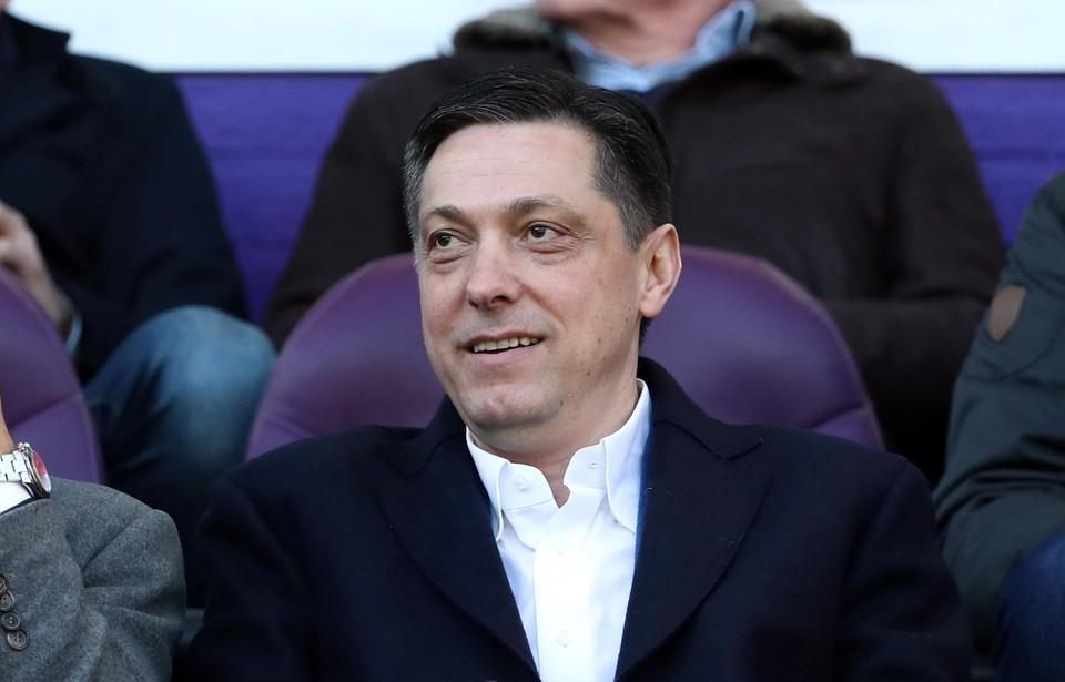Dejan Veljkovic op de VIP-tribune van Anderlecht.