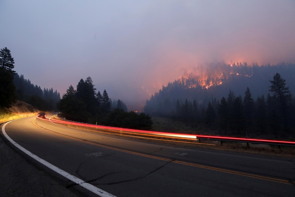 Bosbranden na ongeziene hitte in de VS.