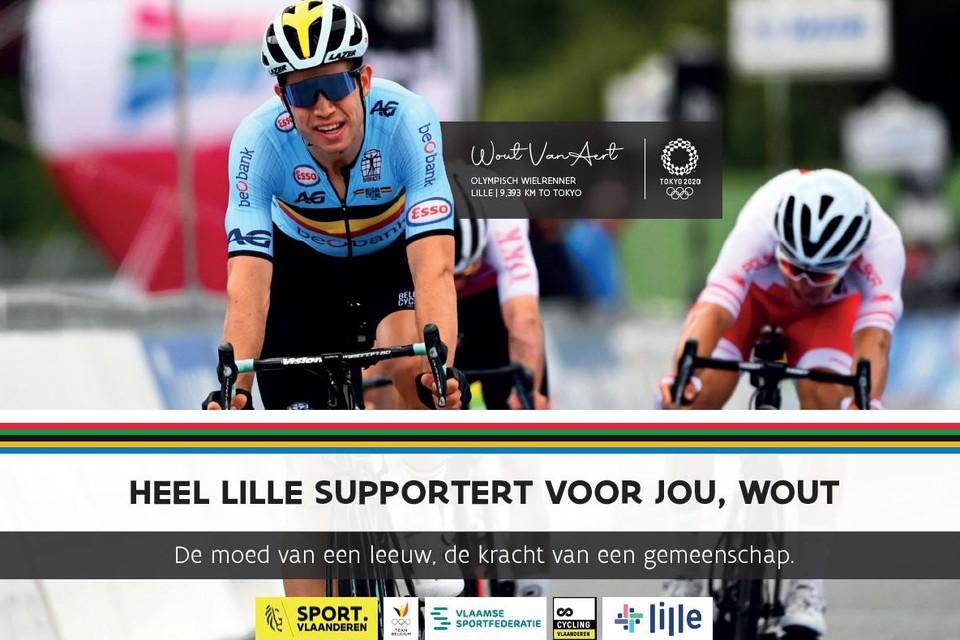 Heel Lille hoopt op een olympische medaille voor wielrenner Wout van Aert.