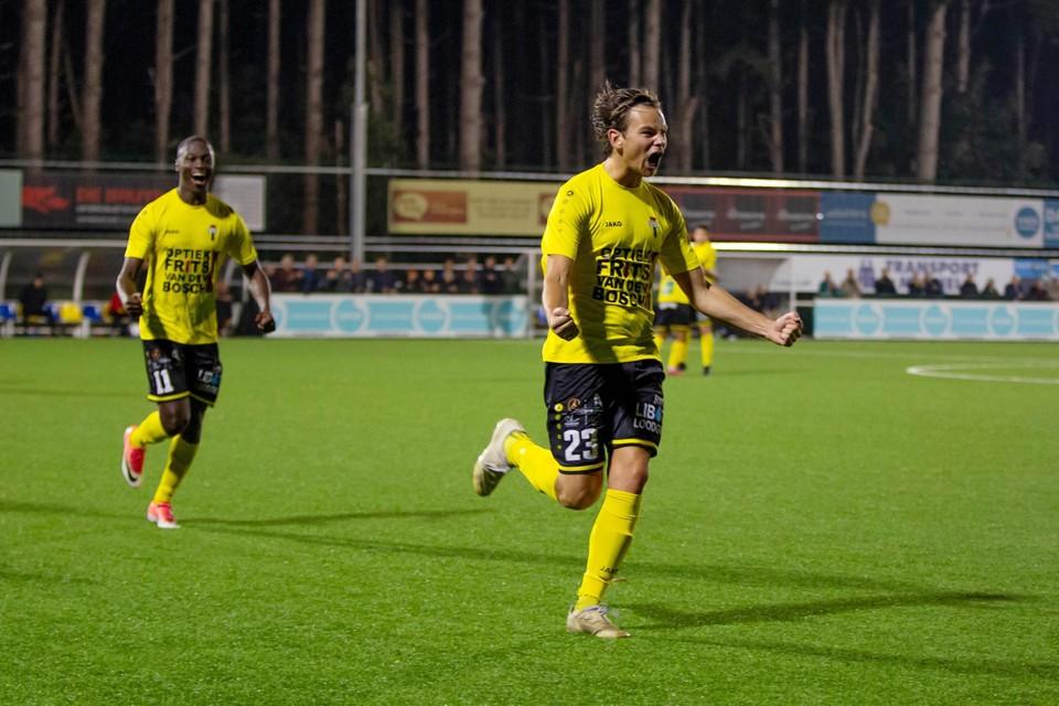 Maarten Goossens (Berchem Sport) maakte de gelijkmaker.