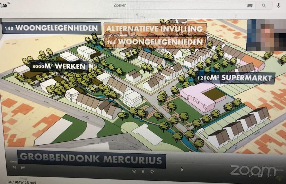 Een ontwerpschets werd gestreamd tijdens de online gemeenteraad