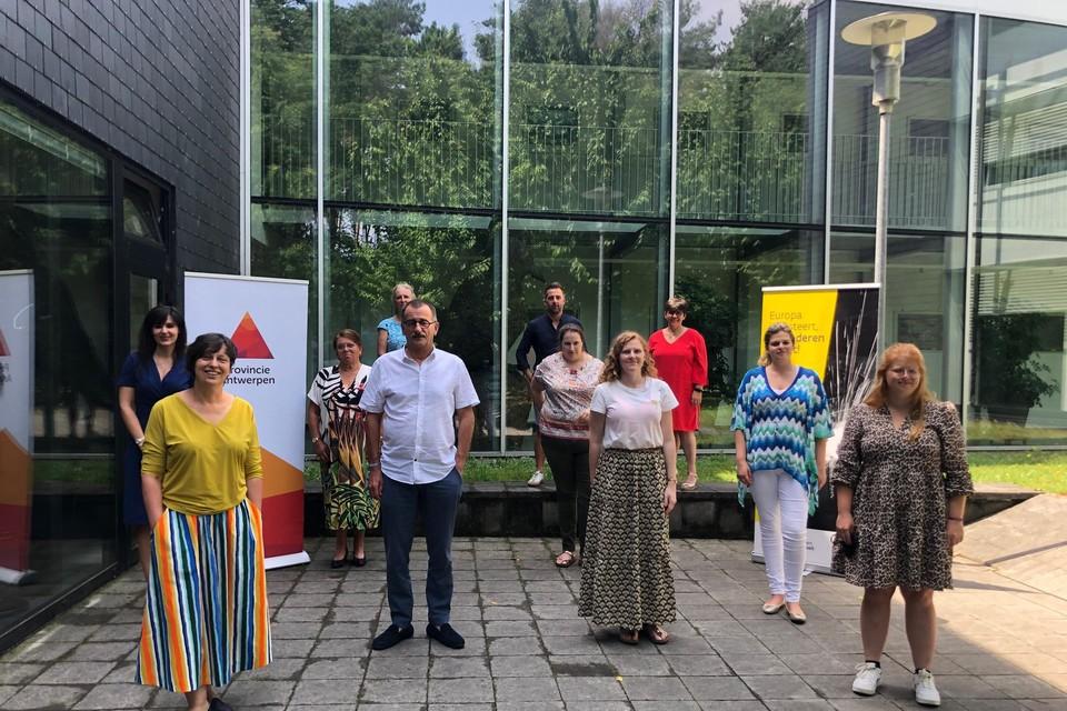 De projectverantwoordelijken vergaderden in Kamp C in Westerlo.