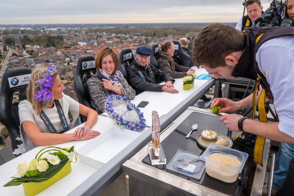 Dinner in the Sky vond in het verleden al plaats in Boom bij domein De  Schorre.