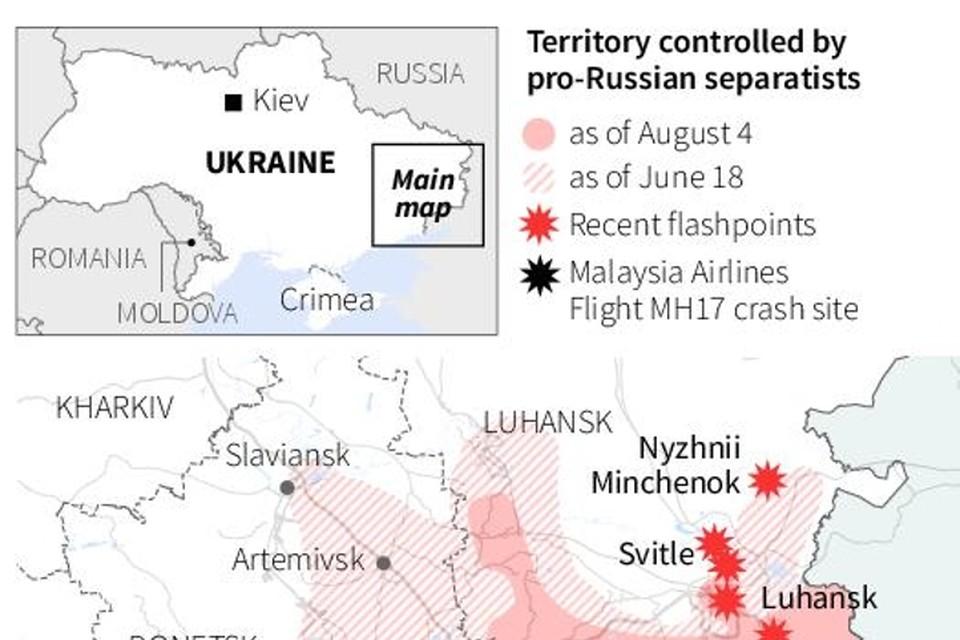 update van de situatie in Oost-Oekraïne op 05/08/2014