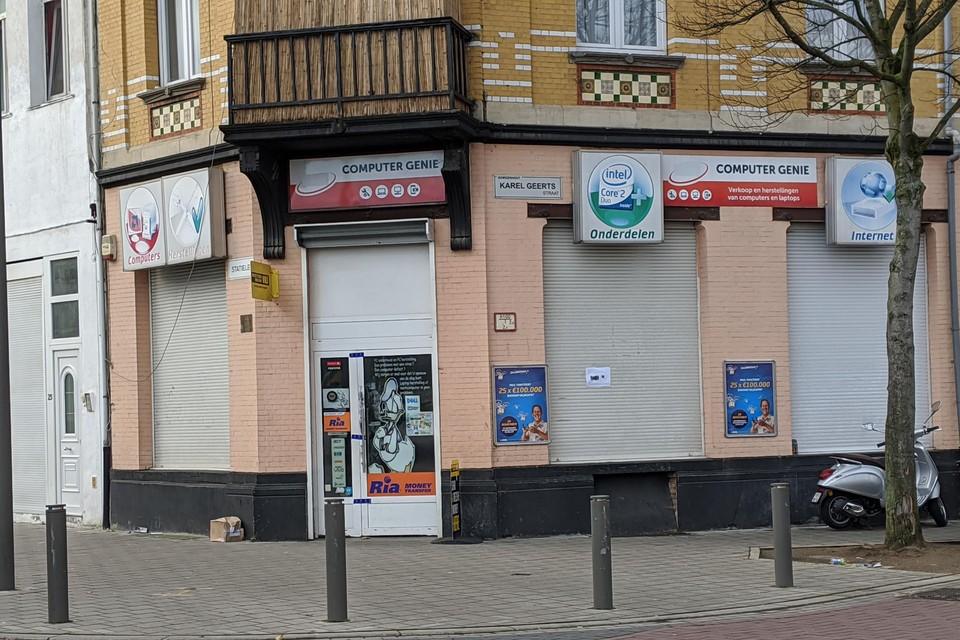 De winkel van Mohamed B. in Borgerhout.
