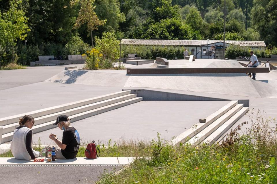 Het skatepark van Park Groot Schijn.