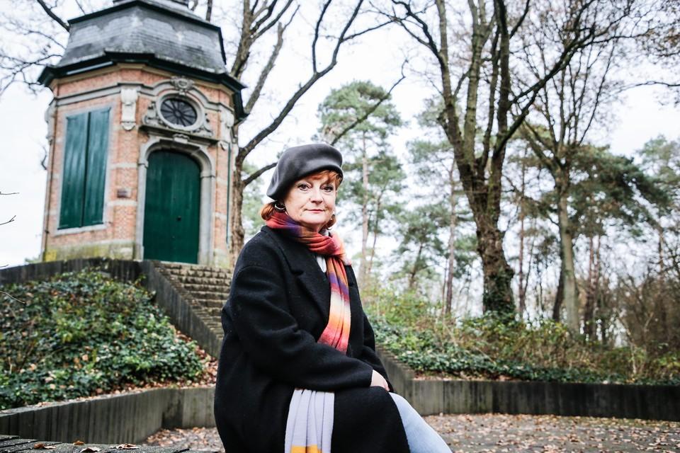 Een van de favoriete plekjes van Karin in Stabroek: het theehuisje bij het Ravenhof in Putte.