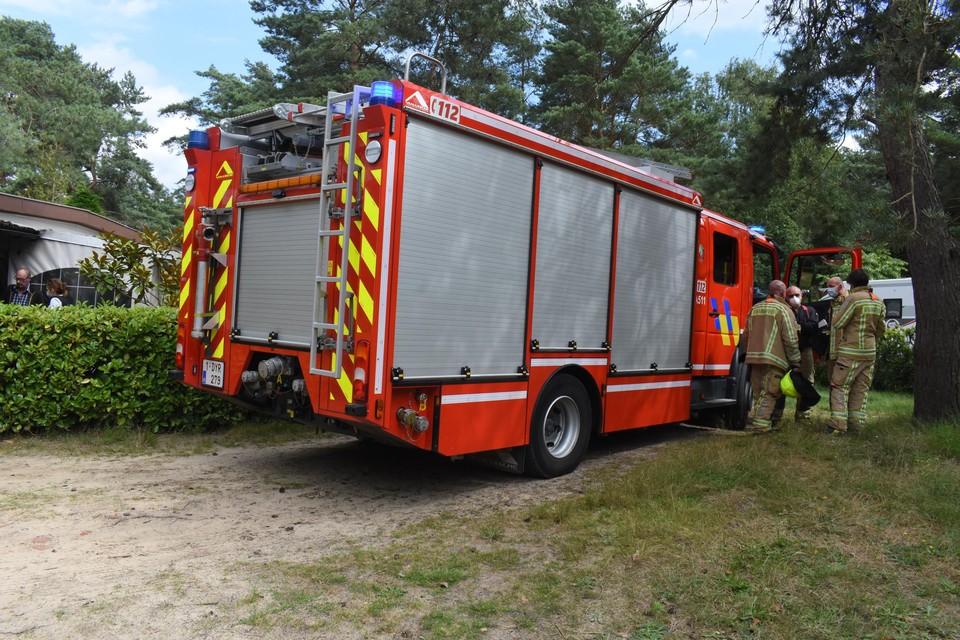 De brandweer deed nog nacontrole.
